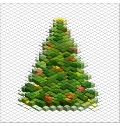 Abstract 3d christmas tree vector