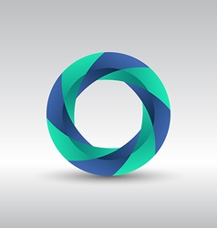 Abstract circle 3d logo icon vector