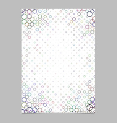 Abstract circle pattern brochure background vector