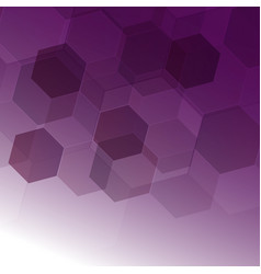 abstract digital hexagon on purple background vector image