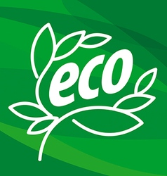Abstract eco logo in the form of plants vector image