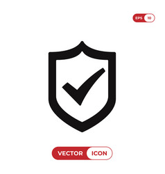 Active shield icon vector
