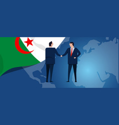 algeria international partnership diplomacy vector image