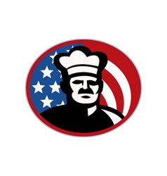 American Chef cook baker with stars and stripes vector image