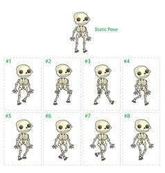 Animation skeleton walking vector