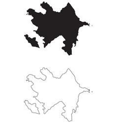 Azerbaijan country map black silhouette vector
