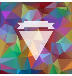 background with bright colored triangles vector image