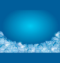 background with realistic ice cubes vector image