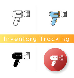Barcode scanner icon asset tracking optical vector