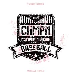 Baseball team badge vector