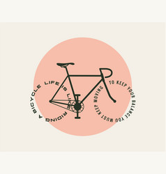 bicycle motivational poster design template with vector image