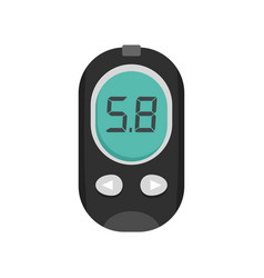 Blood glucose meter icon flat style vector