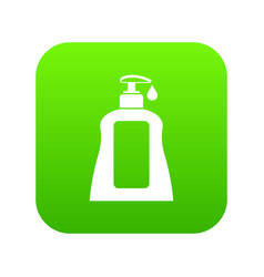 body care lotion icon digital green vector image