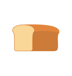 bread isolated piece of bread on white background vector image