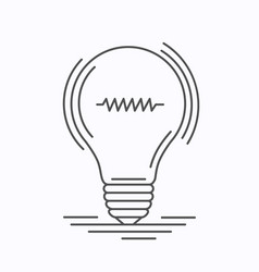 bulb idea of the lines vector image