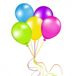 Bunch balloons vector