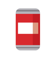 Can of soda beverage cold refreshment vector
