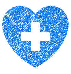 cardiology grunge icon vector image