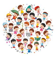 cartoon children concept vector image