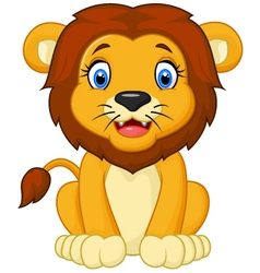 Cartoon lion sitting vector