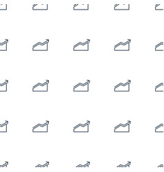 Chart icon pattern seamless white background vector