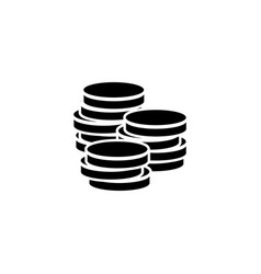 coins stack in flat style money stacked coins icon vector image