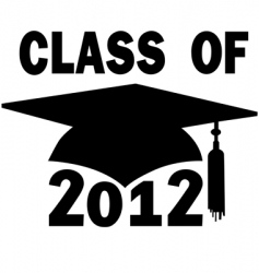 college high school graduation vector image