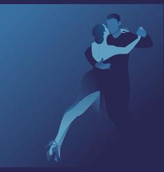 couple dancing passionate argentine tango vector image