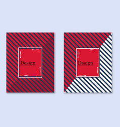 cover with diagonal lines black and red vector image
