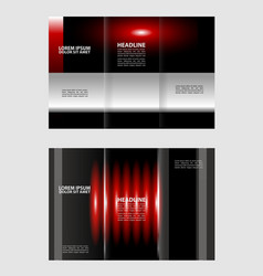 custom tri-fold brochure template works great for vector image