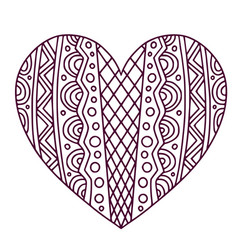 Decorative ornamentalal heart valentines day vector