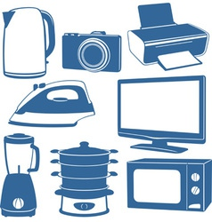 Electrical appliances vector