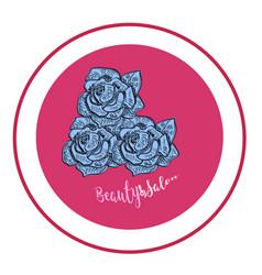 Elegant rose logo for beauty salon modern pink vector