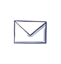 Envelope icon in line sketch style isolated vector