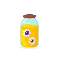 Eyeballs in glass jar vector image