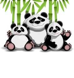Family of pandas vector