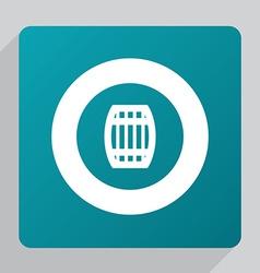 Flat barrel icon vector