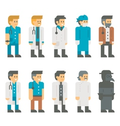 Flat design doctor uniform set vector