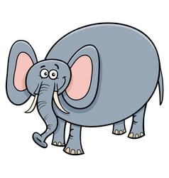 Funny elephant animal cartoon character vector