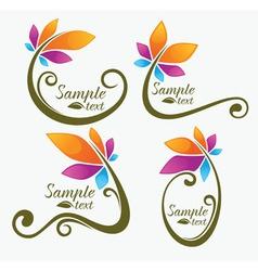 garden and flowers vector image