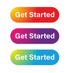 Get started call to action button vector