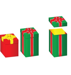 Gift box preview vector