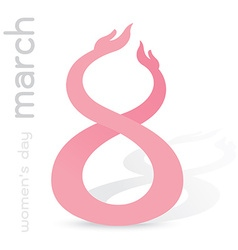 girl crossed twin hands make number 8 march vector image