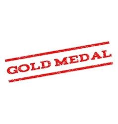 Gold Medal Watermark Stamp vector