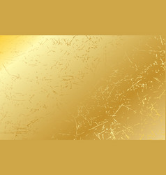 Gold scratched texture background vector