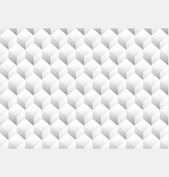 grayscale 3d cubes minimal repeatable pattern vector image