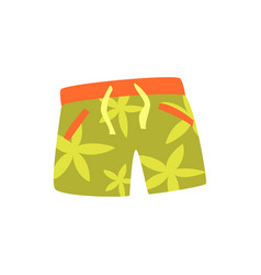 Green shorts for swimming cartoon vector