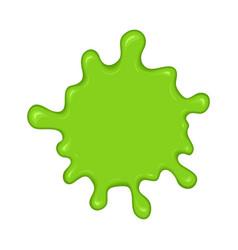 green slime splash blot vector image