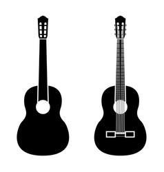 guitar black color icon vector image