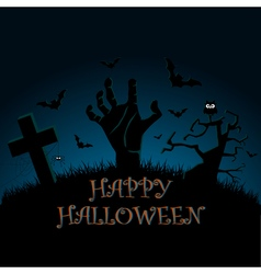 Halloween zombie party poster vector